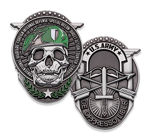 U.S. Army Special Forces Challenge Coin! Amazing Army Special Ops Military Challenge Coin, Designed by Military Veterans & Officially Licensed Military Coin!
