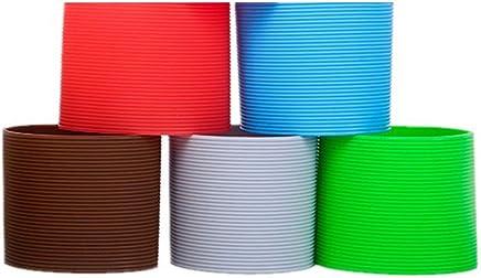 Preisvergleich für BESTONZON 5 Stücke Silikon Glas Tassen Schutzhülle Rutschfeste Hitzebeständige Schutzhülle für Flasche Glas Becher (Zufällige Farbe)