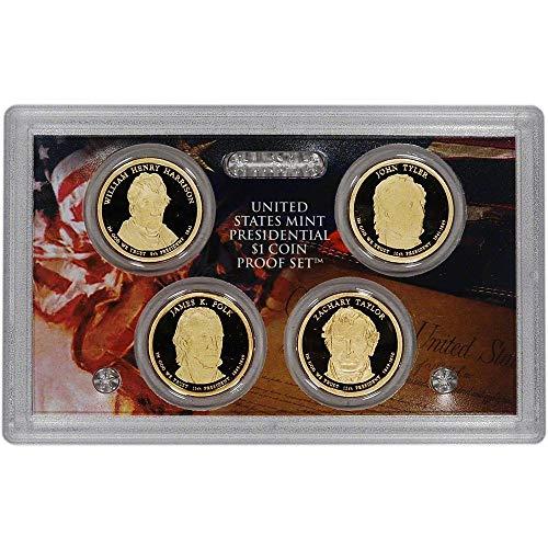 2009 S Presidential Dollar 4-coin Proof Set $1 DCAM - No Box or COA US Mint Coin Box Coa No Coins