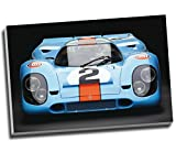 """Kunstdruck auf Leinwand """"Porsche 917 Gulf Le Mans"""","""