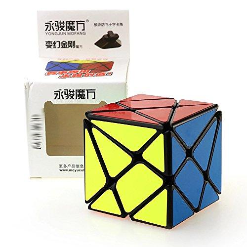 HJXDtech- Yongjun Juguetes educativos Clásico Negro 3 espadachín Conjunto mágico del Cubo Irregular de la torcedura del Rompecabezas del Cubo (Axis Cube)