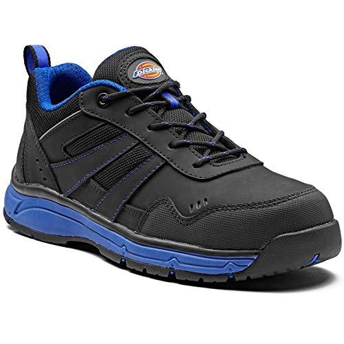 Dickies Herren Emerson Safety Water Resistant Workwear Toe Cap Trainers, Blau (Schwarz / Königsblau), 46