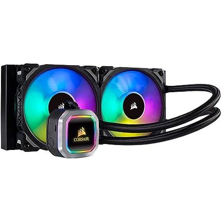 Corsair Hydro Series 100i RGB Platinum Refrigerador Líquido, Radiador de 240 mm, Dos ventiladores ML PRO 120 mm RGB PWM, Iluminación RGB, Control de ...