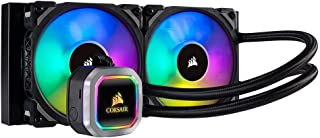 Corsair Hydro Series 100i RGB Platinum - Refrigerador líquido, Radiador de 240 mm (dos ventiladores ML PRO 120 mm RGB PWM, iluminación RGB control de ventiladores con software)