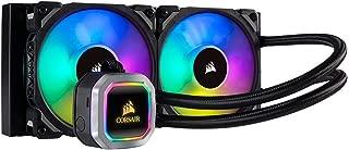 Corsair H100i RGB PLATINUM AIO Liquid CPU Cooler,240mm,Dual ML120 PRO RGB PWM Fans,Intel 115x/2066,AMD AM4/TR4 (Renewed)