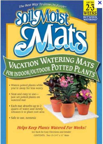 Tapis d'Arrosage Cristaux - Lot de 4 - Dim: 40 X 28 cm = 8 litres - Les plantes sont arrosées pendant 3 semaines - Moist Mats ®
