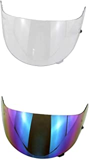 2 Pieces Replacement Motorbike Visor For Hjc Hj-09Clear+Colored