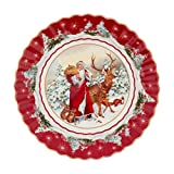 Villeroy & Boch 1483323638 Toy's Fantasy Ciotola Grande Babbo Natale con Animali della Foresta (1 Pezzo), Porcellana, Multicolore, 25 x 25 x 5 cm