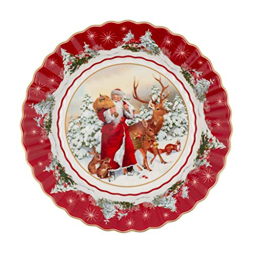 Villeroy & Boch Bowl Large Santa with Forest Animals, 25 x 25 x 5 cm, Multicoloured