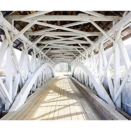 decomonkey Fototapete Brücke 400x280 cm XXL Design Tapete Fototapeten Vlies Tapeten Vliestapete Wandtapete moderne Wand Schlafzimmer Wohnzimmer Architektur