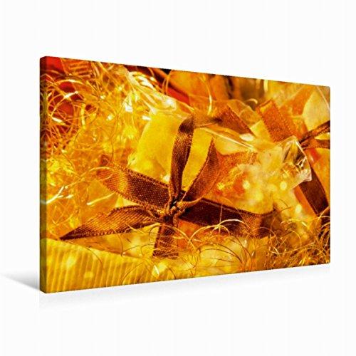 CALVENDO Premium Textil-Leinwand 75 cm x 50 cm quer, EIN Motiv aus dem Kalender Süße Verführung | Wandbild, Bild auf Keilrahmen, Fertigbild auf echter Leckerei im Lichterglanz Lifestyle Lifestyle