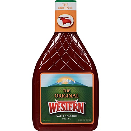 Western Original Sweet and Smooth French Salad Dressing, 36 fl. oz. (Pack of 6)