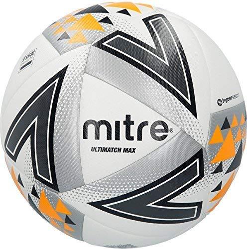 OSG Mitre B1115Ultimatch max Football Ball bianco–Taglia 5