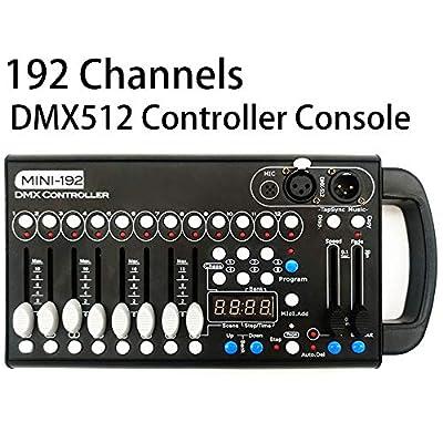 DMX Controller,192 CH DMX 512 Controller r Console,DMX512 Lighting for Editing Program of Party Lights,Stage Lights, Dj Lights, Par Lights, Moving Head Lights, Pubs, Disco