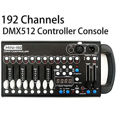 DMX Controller,192 CH DMX 512 Controller Lighting for Stage Lights, Dj Lights, Par Lights, Moving head lights, Pubs, Disco