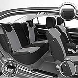 DBS - Housses de siège sur Mesure pour Kangoo (Jusqu'au 12/2007) | Housse Voiture/Auto d'intérieur | Haut de Gamme | Jeu Complet en Tissu | Montage Rapide