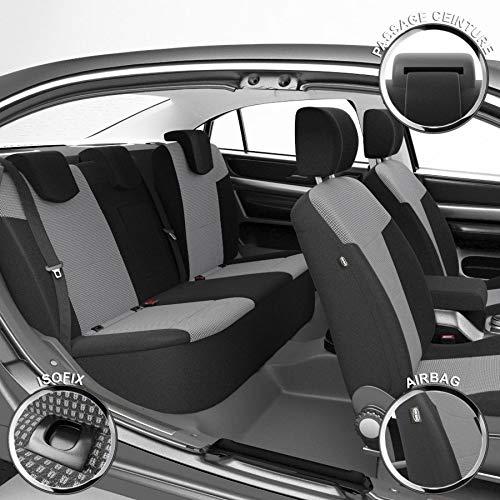 DBS - Housses de siège sur Mesure pour Polo (07/2009 à 09/2017) | Housse Voiture/Auto d'intérieur | Haut de Gamme | Jeu Complet en Tissu | Montage Rapide