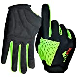 LuxoBike Cycling Gloves Bike Gloves Biking Gloves for Women - Lightweight Breathable Shock Absorbing Full Finger Sports Gloves with Touch Screen - Road Bicycle Gloves for Men