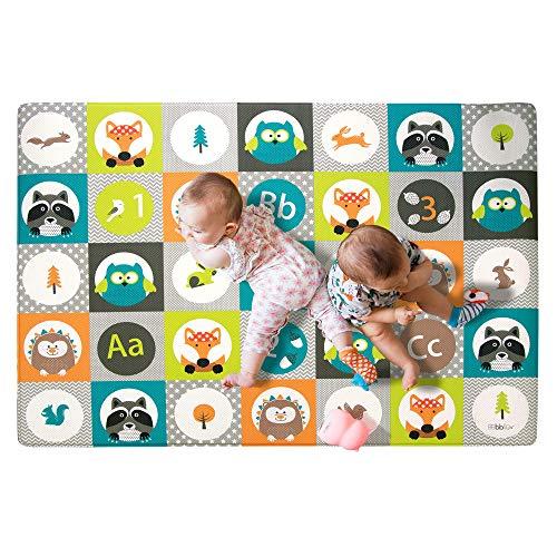 bblüv – Mülti - Alfombra de juego suave, reversible y segura (azulejos)