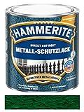 2,5 L Hammerite Direkt auf Rost Metall-Schutzlack Dunkelgrün, Hammerschlag