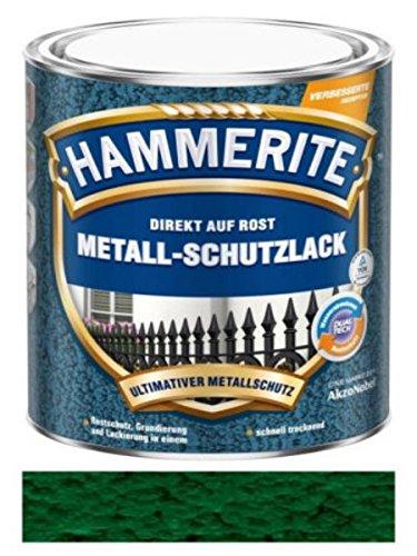 750 ml Hammerite Direkt auf Rost Metall-Schutzlack Dunkelgrün, Hammerschlag