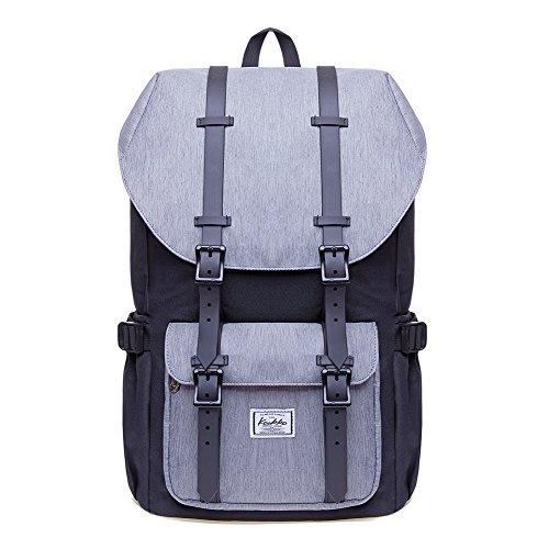 """KAUKKO Rucksack Damen Herren Studenten 17 Zoll Backpack für 15\"""" Notebook Lässiger Daypacks Schüler Bag für Wandern 46 cm, 22.4 L"""