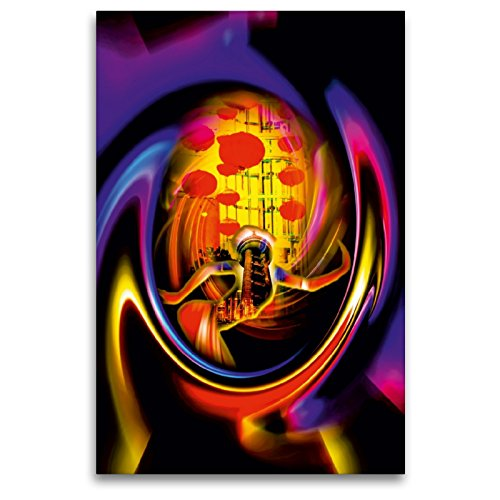 CALVENDO Premium Textil-Leinwand 80 x 120 cm Hoch-Format Fest im Pearl Tower, Leinwanddruck von Walter Zettl