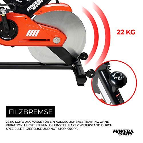 Profi Indoor Bike MS400 Ergometer Heimtrainer Bild 4*