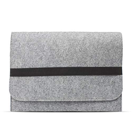eFabrik Schutzhülle für Acer Travelmate Spin B1 Tasche aus Filz 11,6 Zoll Filztasche Hülle Sleeve Soft Cover Schutztasche Sleeve, Farbe:Grau