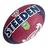 Steeden NRL Ballon de rugby Manly Warringah Sea Eagles 2020 Bordeaux/Bleu – 5