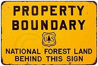 Custom Kraze Property Boundary National Forest Vintage Reproduction Metal Sign 8 x 12
