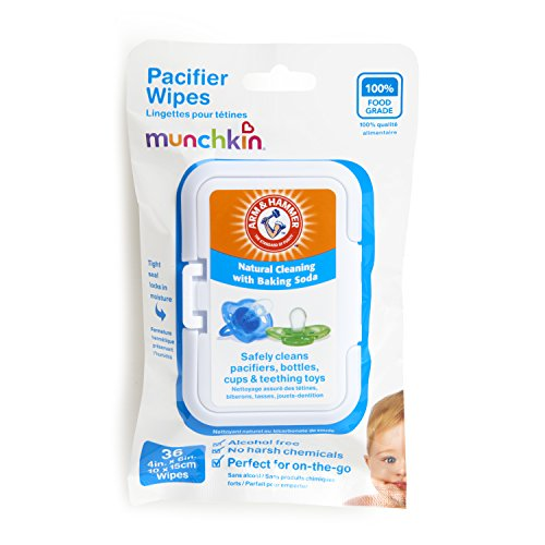 Munchkin 36 Pack Arm and Hammer Pacifier Wipes White