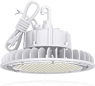 HYPERLITE LED High Bay Light 100W 5000K 13,500LM (135lm/w) CRI>80 1-10V Dimmable 5' Cable with 110V Plug Hanging Hook Safe Rope UL/DLC Approved for Workshop Gym Warehouse