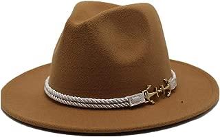 Sun Hat for men and women Men Women Fashion Fedora Hat Wool Felt Retro Raccoon Pirate Hat Ladies Men's Hat Felt Felt Shallow Top Fedora Hat
