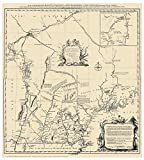 New Hampshire 1761 State Map - Blanchard & Langdon - a very interesting early NH map