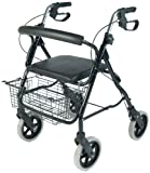 NRS MobilityCare Aluminium Four Wheeled Rollator M39634 Walking Aid - Seat and Shopping