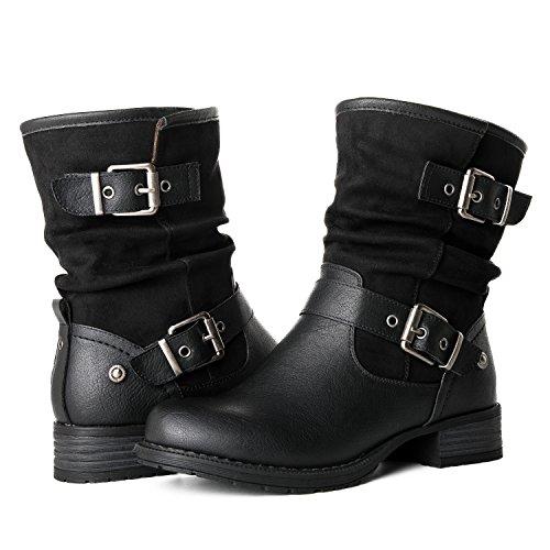 GLOBALWIN Women's 17YY12 Black Fashion Boots 7M
