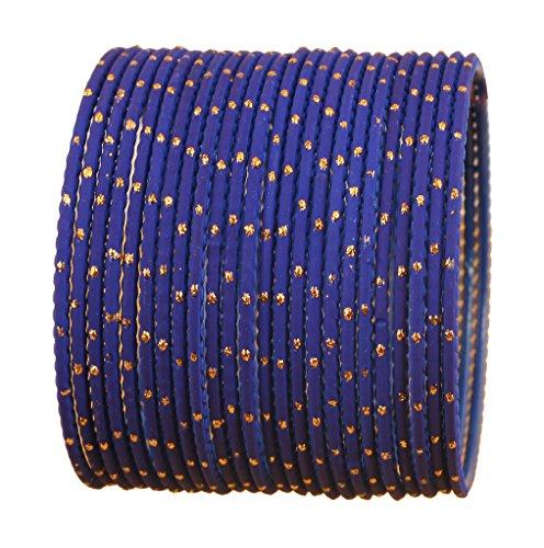 Touchstone Bangle Collection exklusive Glasur Designer Schmuck spezielle Armreifen Armbänder für Damen 2.62 Set 2 Blau