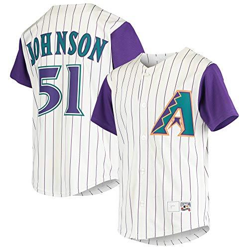 Randy Johnson Arizona Diamondbacks #51 Cream Stripes Youth 8-20 Cooperstown Alternate Player Jersey (8)