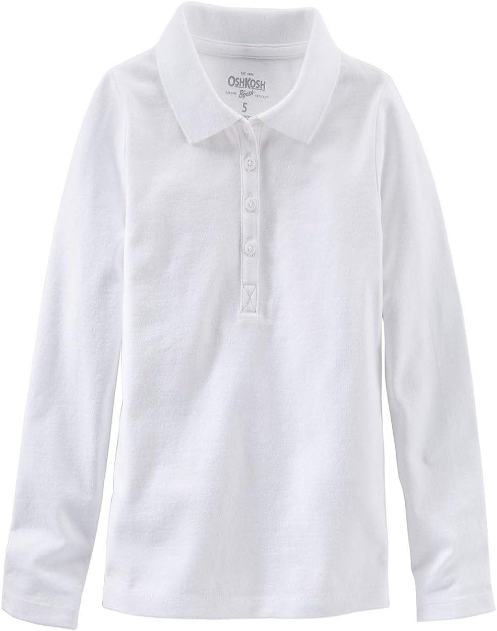 OshKosh B'gosh Little Boys' White Long Sleeve Piqué Polo Kids
