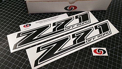 UNDERGROUND DESIGNS Z71 Off Road Decal Chevy Fender Tailgate Sticker 2014-2018 Select Color: (Gloss Blackout)