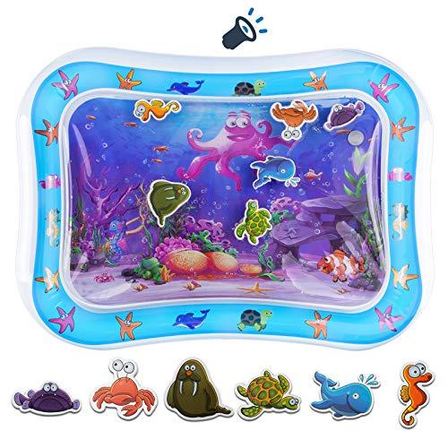 Wassermatte Baby,Wasserspielmatte, Aufblasbare Baby-Spielmatte,Baby-Spielzeug Sensorisches für Aktivitätszentren für Babys in der frühen Entwicklung,für Säuglinge und Kleinkinder 3 bis 12 Monaten