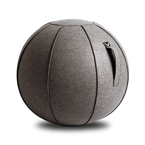 Vivora Luno - Sitting Ball Chair for Office, Dorm, and Home, Lightweight Self-Standing Ergonomic Posture Activating Exercise Ball Solution with Handle & Cover, Classroom & Yoga
