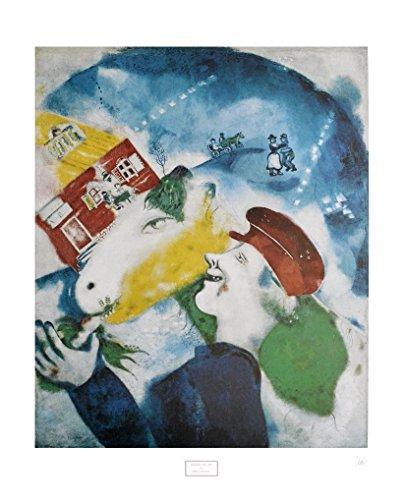 Germanposters Marc Chagall Ich und das Dorf Poster Kunstdruck Bild 84x63cm