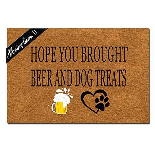 Home Decor Funny Doormat Hope You Brought Dog Treats Monogram Doormat Indoor Outdoor Rubber Welcome...