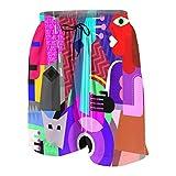 De Los Hombres Casual Pantalones Cortos,Picasso la pareja de baile y la mujer tocando la guitarra danza fina cubismo abstracto,Secado Rápido Traje de Baño Playa Ropa de Deporte con Forro de Malla