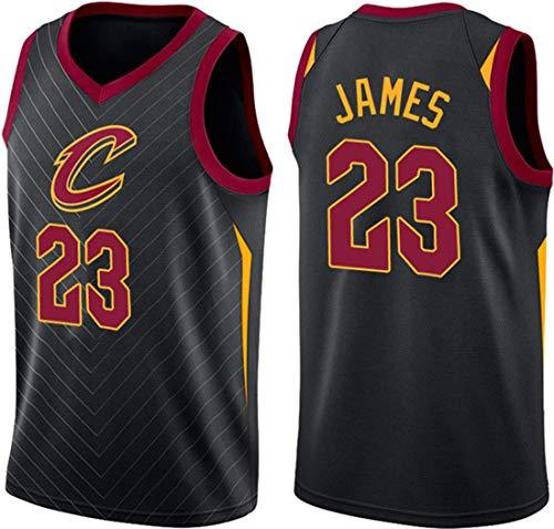 WSUN NBA Herren Basketball Trikot, Cavaliers 23# Lebron James Trikots -NBA Basketball Swingman Trikots Freizeit Breathable Sports T-Shirt,XXL(185~190CM/95~110KG)