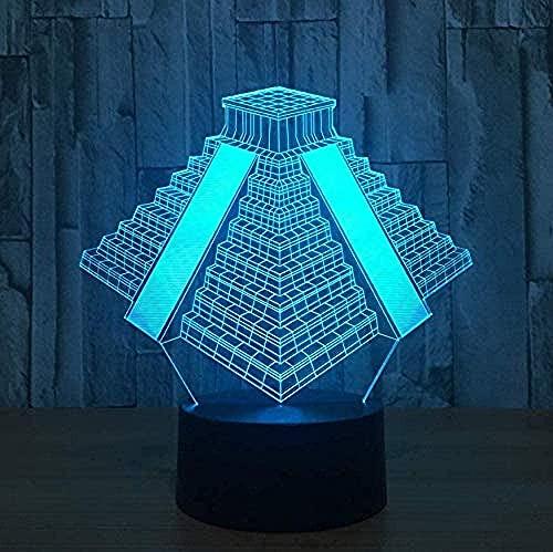 ilusión luz nocturna Edificios famosos en la ciudad de Londres regalos decoración del hogar-7 colores cambiantes