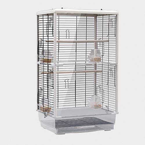 31pollici Prodotti per Animali Domestici Ferro Battuto Gabbia di Volo,Medio Birdcage Tetto Parrocchetto Piccolo Pappagallo Canarie Gabbia per Uccelli con Alzarsi