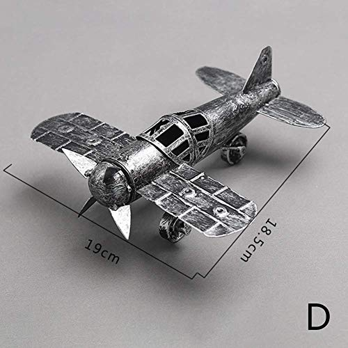 SUPEWOLD Retro Iron Aircraft Craft Vintage Airplane Model Metal Propeller Airplane Airplane Models Metal Craft Home Decor Ornament Toy Craft Souvenir - Diameter, Free Size